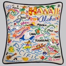 Hawaii Embroidered Pillow
