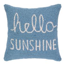 Hello Sunshine Hooked Pillow