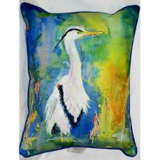 D&B's Blue Heron Indoor Outdoor Pillow