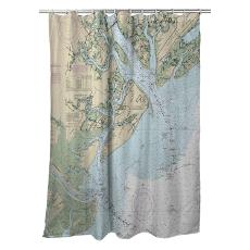 Sc: Hilton Head Island, Sc Nautical Chart Shower Curtain