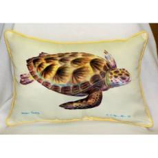 Green Sea Turtle Outdoor Pillow