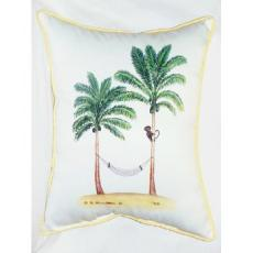 Monkey And Palm Indoor Outdoor Pillow