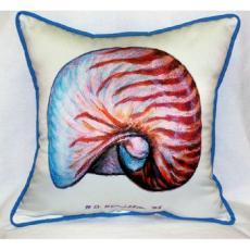 Nautilus Shell Outdoor Pillow