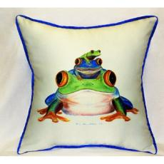 Stacked Frogs Indoor Outdoor Pillow
