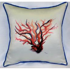 Red Coral Indoor Outdoor Pillow