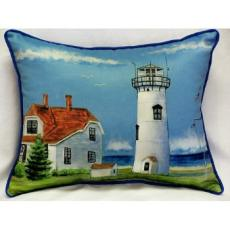 Chatham, MA Lighthouse Indoor Outdoor Pillow