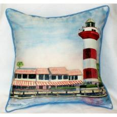 Hilton Head Lighthouse Outdoor Pillow