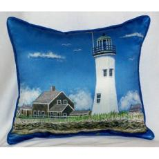 Scituiate, MA Lighthouse Indoor Outdoor Pillow