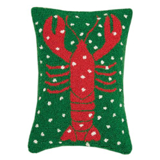 Holiday Lobster Hook Pillow