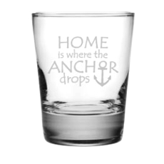 Where the Anchor Drops Etched DOF Glass Set