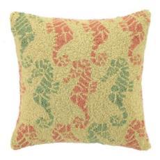 Mayan Nautical Seahorse Pillow