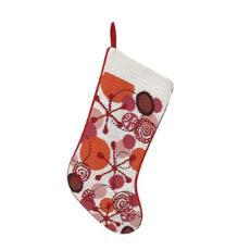 "Retro Red 16"" Needlepoint Stocking"