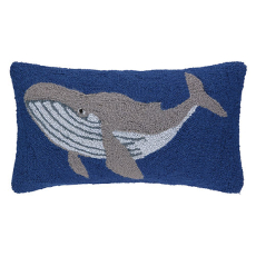 Humpback Whale Blue Pillow