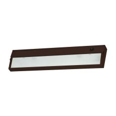 Zeelite 2 Lamp Cabinet Light In Bronze And Diffused Glass