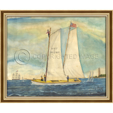 Mary Of Norfolk Framed Ship Art