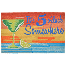 5 O'Clock Sunset Indoor Outdoor Rug