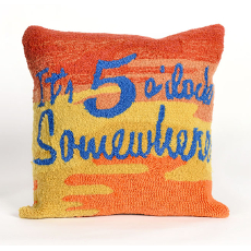 5 O'Clock Sunset Indoor Outdoor Pillow