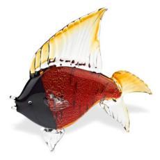 Black/Red Fish Crystal Sculpture
