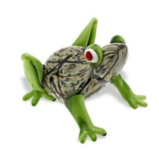 Art Glass Frog Sculpture