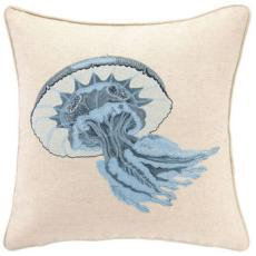 Jellyfish Embroidered Pillow