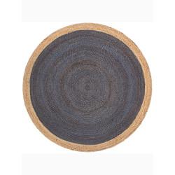 Yellowstone Braided Jute Rug (5' Round) - Dark Blue