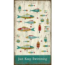 Keep Swimming Wall Art