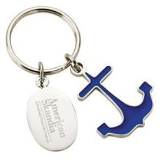 Personalized Sail Boat Anchor Keychain