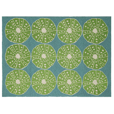 Key Lime Urchins Hook Rug