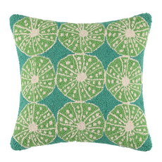 Key Lime Urchins Hook Pillow