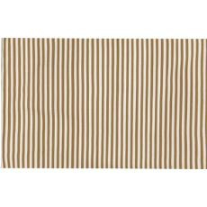 Mini Stripe Khaki Indoor Outdoor Rug