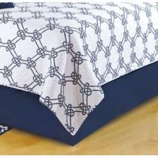 Knotty Buoy Navy Blue Dust Ruffle Bed Skirt