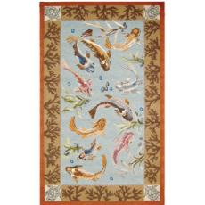 Chinoserie Koi Area Rug