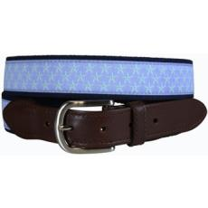 Starfish (Periwinkle) Leather Tab Belt LTB
