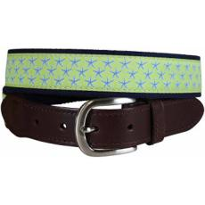 Starfish (Key Lime) Leather Tab Belt Ltb
