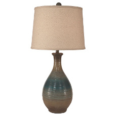 Ridged Tear Drop Table Lamp - 29.5""