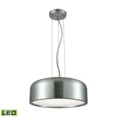 Kore 1 Light Led Pendant In Aluminum With Acrylic Diffuser