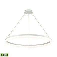 Cycloid 1 Light Led Pendant In Matte White With Acrylic Diffuser - Large