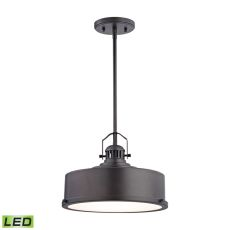 Rexford 1 Light Led Pendant In Oiled Bronze - Includes Recessed Lighting Kit