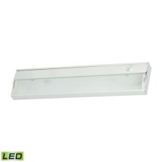 Zeelite 2 Lamp Led Cabinet Light In White With Diffused Glass