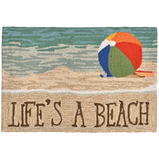 Life'S A Beach  Indoor Outdoor Rug