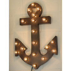 Lighted Anchor Marquee Sign