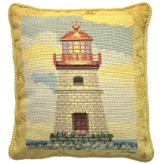 Lighthouse Ii Petit Point Pillow