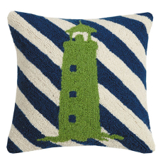 Lighthouse Stripes Hook Pillow