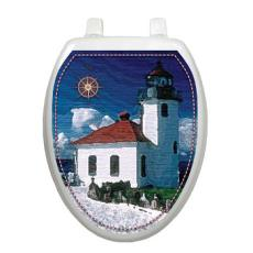 Lighthouse Toilet Seat Decoration