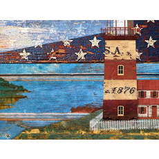 Lighthouse Wood Wall Art