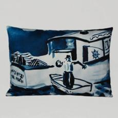 Lobsterboat I Watercolor Pillow