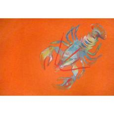 Lobster Orange Indoor Outdoor Rug