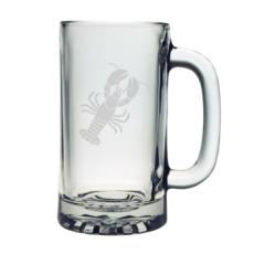 Lobster Etched Sports Beer Mug Set