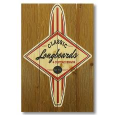 Classic Longboard Wood Art