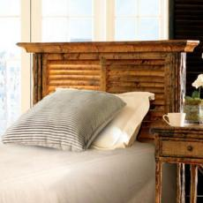 Coastal Bamboo Louvered Tortoise Headboard